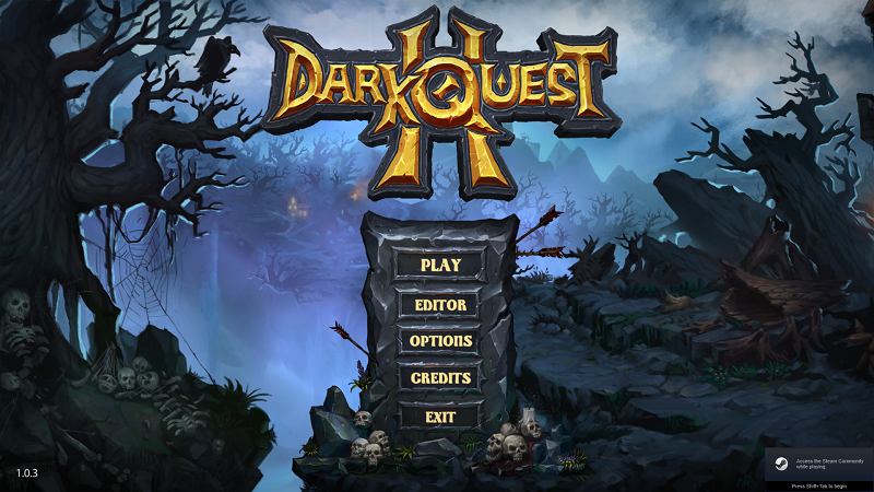 Dark Quest 2 review by Rick Moscatello-dqsplash-png