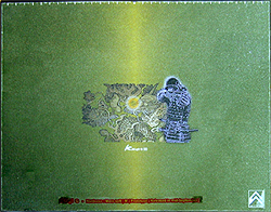 The Hyper Glass Mat with an image on it.